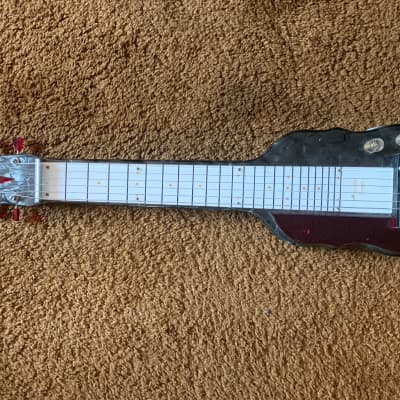 Magnatone Varsity Lap Steel and Amp Set 1950 Grey Pearloid for sale