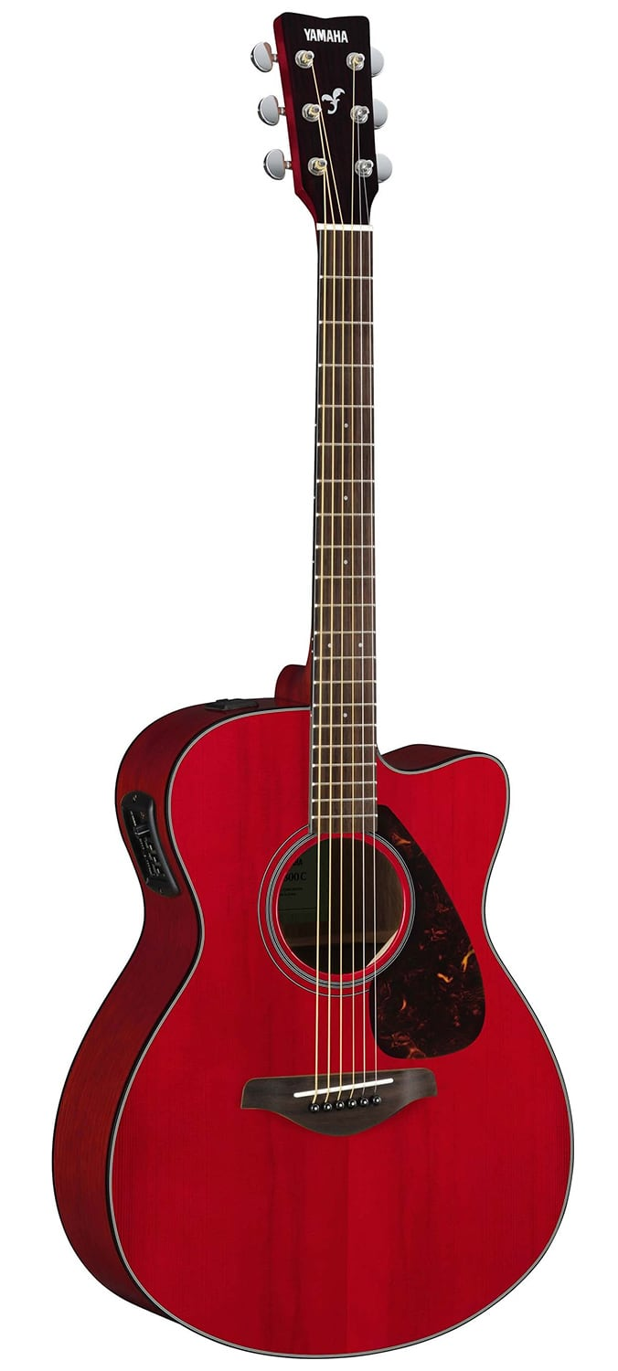 Yamaha fsx800c solid top small body acoustic electric for Yamaha solid top