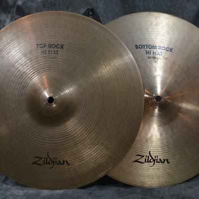 "Zildjian 14"" Avedis Rock Hi Hats NO cracks, chips or Keyhole Vintage 1980s w FAST Same Day Shipping"
