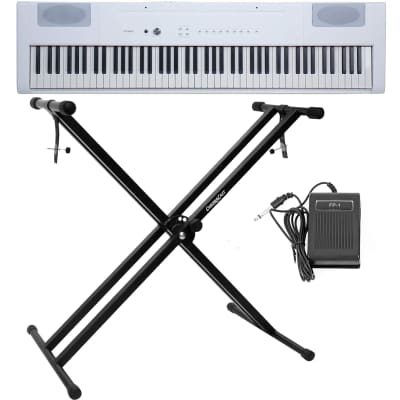 Artesia PA-88H 88-Key Weighted Hammer Action Digital Piano White w/ Sustain Pedal & Stand