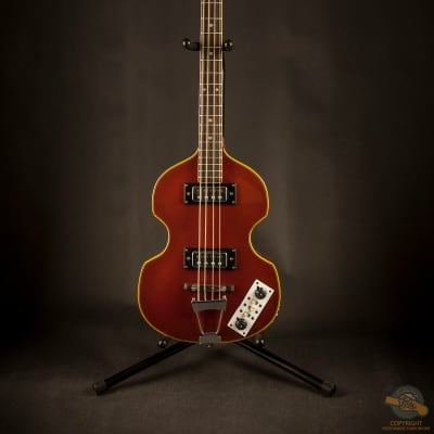 Fresher Violin Bass 1970 Candy  Red for sale