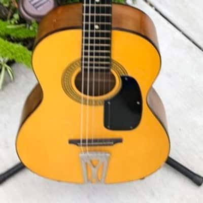 Vintage Rare 1960's Orpheus Parlor Classical Guitar #1121057 W/Case for sale