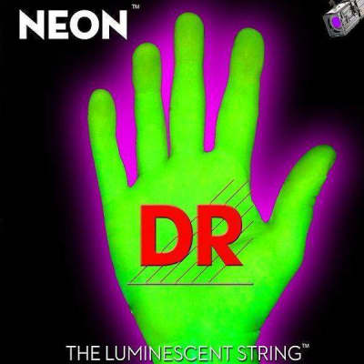 DR STRINGS Hi-Def Neon GREEN Color NGE-9 ELECTRIC K3 COATED Guitar String Set 9-42 image