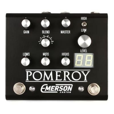 Emerson Custom Pomeroy Boost Overdrive Distortion Guitar Effects Pedal Black for sale