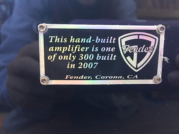 Fender Cadillac Amp 2007 Black Lacquer w/ Storage Bag | Reverb