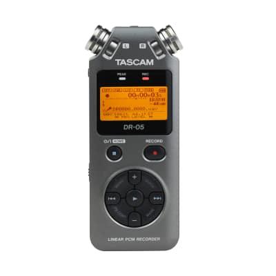 Tascam DR-05 Version 2 Handheld PCM Portable Digital Audio Recorder Grey DR05 V2 image