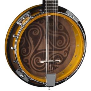 Luna Banjo Celtic 6-String Tobacco Burst BGB CEL 6 for sale
