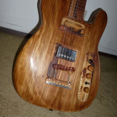 private stock guitar,Telecaster-Slab-Caster, one piece of canary guayacan