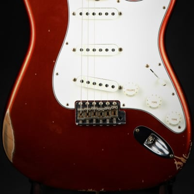 Fender Custom Shop 1968 Relic Stratocaster - Faded Aged Candy Apple Red