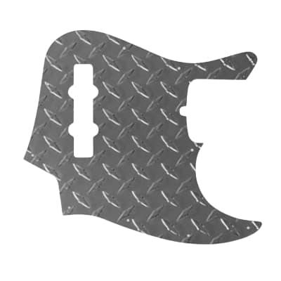 Mexican Jazz Bass Pickguard - Raw Aluminium Diamond Plate