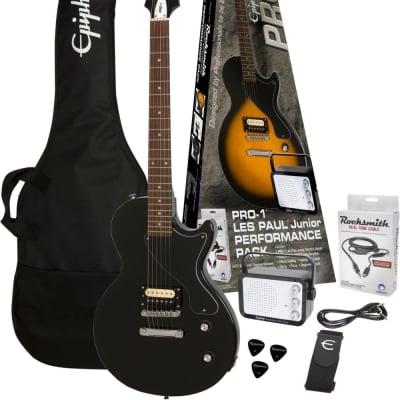 EPIPHONE PRO-1™ Les Paul Jr. Ebony Performance Pack inkl. Rocksmith - E-Gitarren Pack for sale