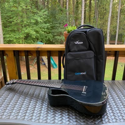 Journey Overheard OF660 Black gloss travel acoustic guitar Carbon Fiber with pickup for sale