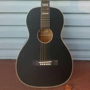 Recording King RPS-7-MBK Dirty 30's Series 7 Single-0 Acoustic Guitar Matte Black