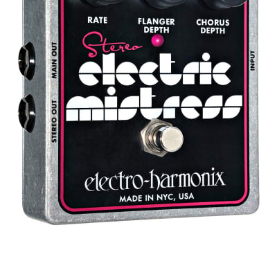 Electro-Harmonix STEREO ELECTRIC MISTRESS Flanger/Chorus, 9.6DC-200 PSU included