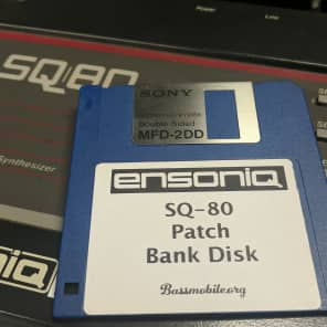 Ensoniq SQ-80 Patch Bank Disk • 1,200 Patches by Bassmobile
