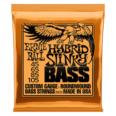 Ernie Ball  P02833 HYBRID SLINKY NICKEL WOUND ELECTRIC BASS STRINGS - 45-105 GAUGE