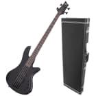 Schecter Stiletto Stealth-4 Bass Guitar Bundle image