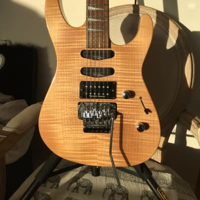 Jackson SL3 Soloist Pro Japan Neck through Trans Natural Flame for sale