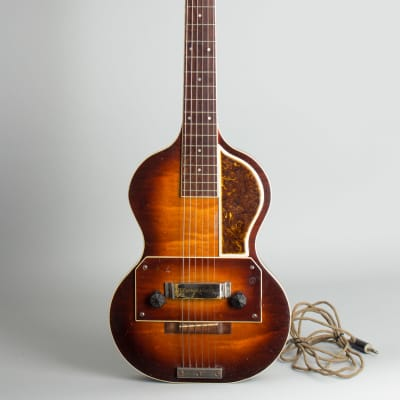 Slingerland  Songster Model 401 Solid Body Electric Guitar,  c. 1936, chipboard case. for sale