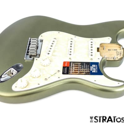 2019 Fender American Elite Stratocaster Strat LOADED BODY USA Satin Jade Pearl