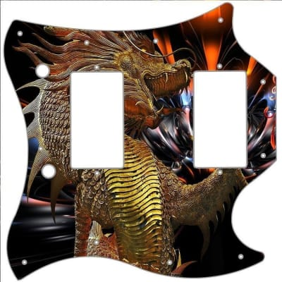SG Standard Pickguard Custom Gibson Graphical Guitar Pick Guard Golden Dragon