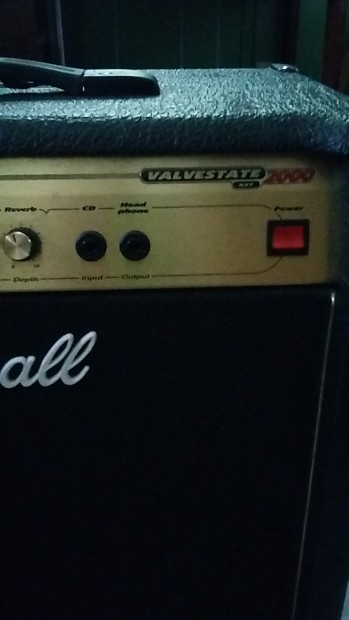 marshall avt 50 combo amplifier gold black with foot reverb. Black Bedroom Furniture Sets. Home Design Ideas