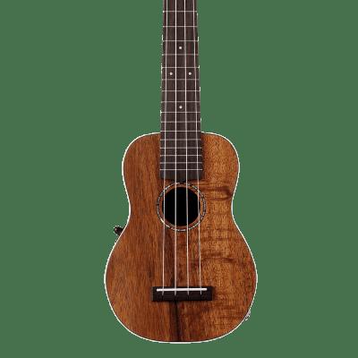 Ovation UCS10P-KOAE Soprano Acoustic-Electric Ukulele in Natural on Exotic Koa Finish w/ Gigbag for sale
