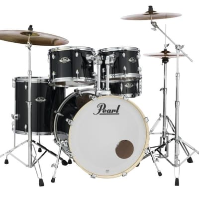 Pearl Export 5-pc. Drum Set w/830-Series Hardware Pack JET BLACK EXX725/C31