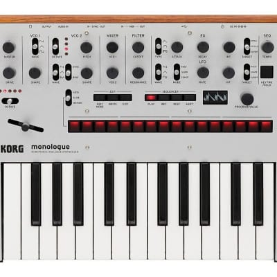 Korg Monologue Monophonic Analog Synthesizer with Presets - Silver