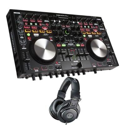 Denon DNMC6000MK2 Professional Digital Mixer and Controller. With Audio-Technica ATH-M30x.