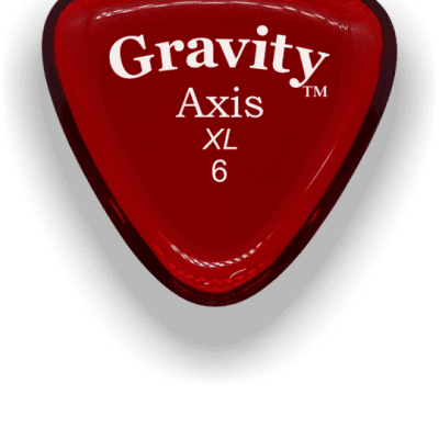 Gravity Picks Axis XL 6mm Red Acrylic <GAXX6P>