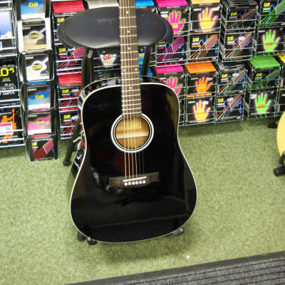 Ashland SD80 (By Crafter) steel acoustic dreadnought guitar in black finish for sale