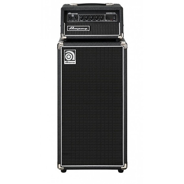 ampeg micro cl 100w 2x10 mini bass stack black reverb. Black Bedroom Furniture Sets. Home Design Ideas