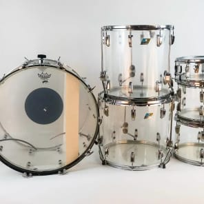 1970s Ludwig Vistalite Pro Beat Drum Set with Single-Color Finish