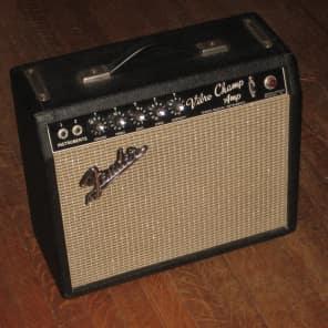 Fender Vibro Champ 1965/66 Blackface All Original Pre CBS Vintage Guitar Combo Amp