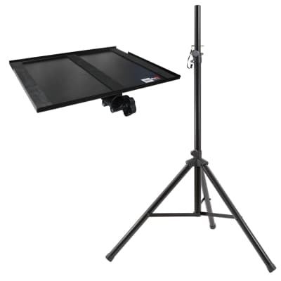 Portable Video TV Multimedia Projector Mount Tray Holder with Tripod Stand