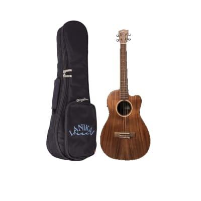 Lanikai Model ACST-CEB Acoustic Solid Acacia Top Baritone Size Ukulele w/Gig Bag