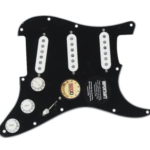 Fender Tex-Mex 920D Loaded Pre-wired Strat Pickguard BK/WH