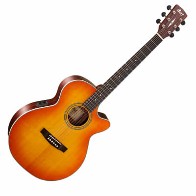 Cort L150F Superfolk Acoustic / Electric Guitar Fishman Pickup Vintage Sunburst