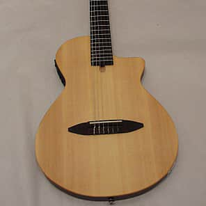 "Antonio Hermosa AH-50 Chambered 2"" Thick Thin Body Acoustic Electric Classical Guitar 2016 Satin Nat"