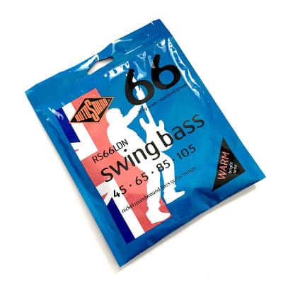 Rotosound RS66LDN Long Scale Standard Gauge (45-105) Nickel Roundwound Bass Guitar Strings