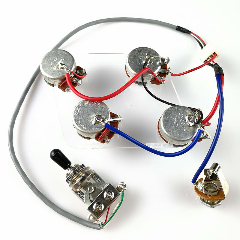 epiphone les paul wiring harness  also fits sg es335  dot direct fit  just attach your pickups