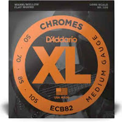 D'Addario ECB82 Chromes Bass Guitar Strings, Medium, 50-105, Long Scale