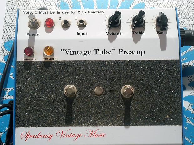 f4ca7806 Speakeasy Vintage Music Vintage Tube PREAMP   Reverb