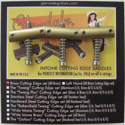 Glendale Brass Telecaster Saddles for sale