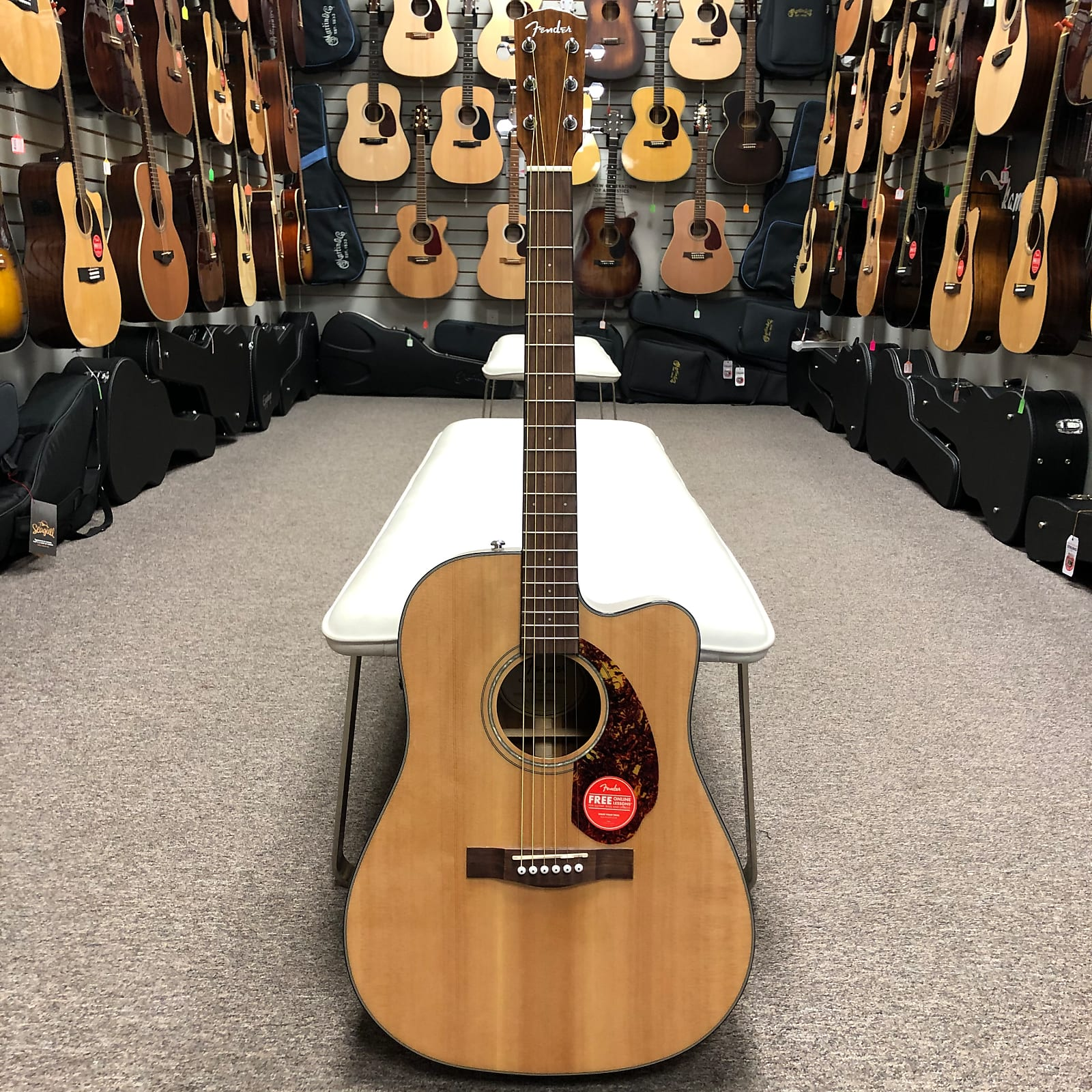 Fender CD140SCE Natural/Acoustic Electric w/Case
