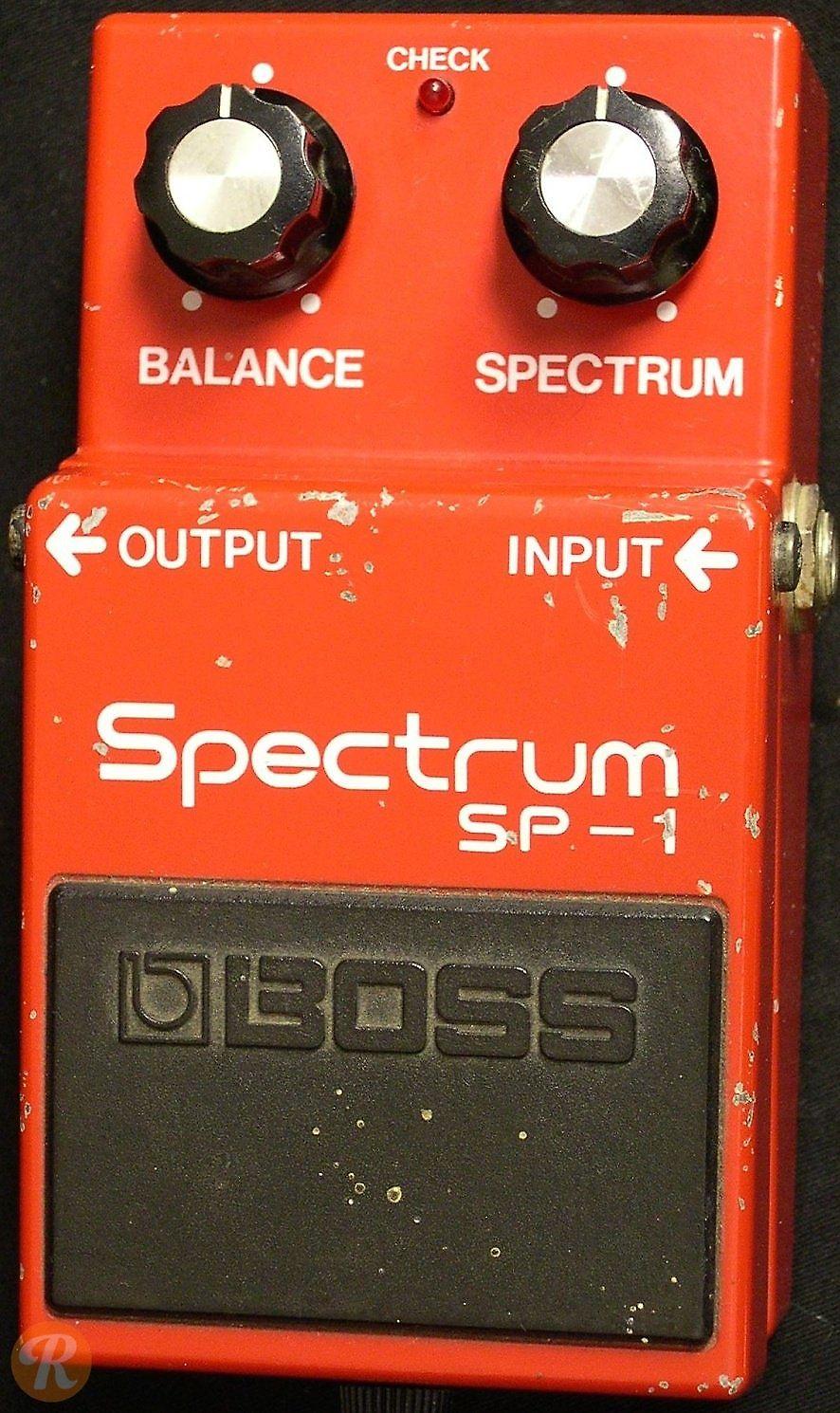 boss sp 1 spectrum equalizer reverb. Black Bedroom Furniture Sets. Home Design Ideas