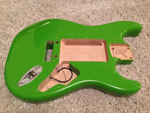 Warmoth Custom Strat Body 2015 Charger Green Reverb