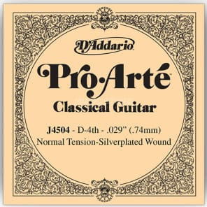 D'Addario J4504 Pro-Arte Nylon Classical Guitar Single String Normal Tension Fourth String