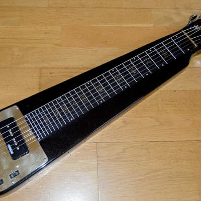 Custom Jagard lap steel with handmade brass parts for sale